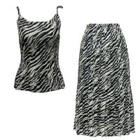 Sets Georgette Mini Pleat - Spaghetti Tank - Zebra Stripe