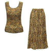 Sets Georgette Mini Pleat - Sleeveless - Leopard Print
