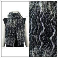 Scarves - Crinkled - Black-Grey