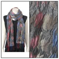 Scarves - Crinkled - Multi - Grey