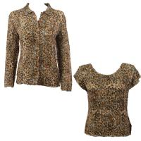 Twin Sets Silky Touch - Blouse / Cap Sleeve - Leopard