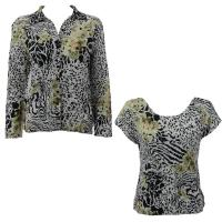 Twin Sets Silky Touch - Blouse / Cap Sleeve - Reptile Floral - Green