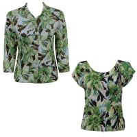 Twin Sets Silky Touch - Blouse / Cap Sleeve - Tropical Green