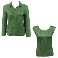 Twin Sets Silky Touch - Blouse / Cap Sleeve - Solid Green