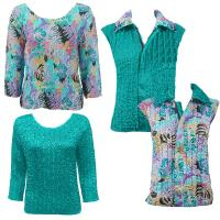 Sets - Reversible Vest / Two TQ Tops - Tropical Breeze - Bright Teal