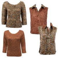 Sets - Reversible Vest / Two TQ Tops - Leopard - Dark Taupe