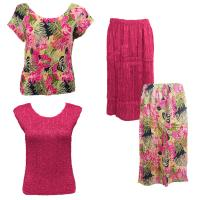 Sets Magic Crush Silky Touch - Two Cap/Calf Skirt - Tropical Heat - Hot Pink