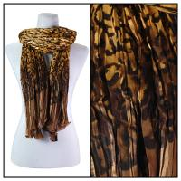 Scarves - Pleated Leopard 1003 - Gold