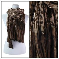 Scarves - Pleated Leopard 1003 - Brown