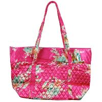 Quilted Bags - Large Tote - Mini Bouquet on Pink