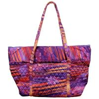 Quilted Bags - Large Tote - Desert Print - Purple