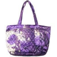 Quilted Bags - Small Tote - Rose Floral - Purple