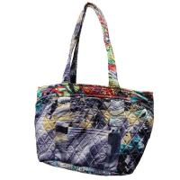 Quilted Bags - Small Tote - Abstract Paint Splatter - Slate