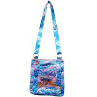 Quilted Bags - Satchel - Abstract Paint Splatter - Blue