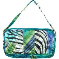 Quilted Bags - Wristlet - Abstract Zebra Blue-Green