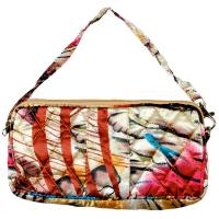 Quilted Bags - Wristlet - (Save for Fall)Abstract Paint Splatter - Gold
