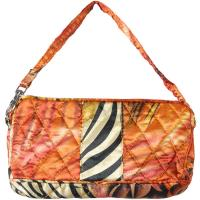 Quilted Bags - Wristlet - (Save for Fall)Abstract Zebra Red-Orange
