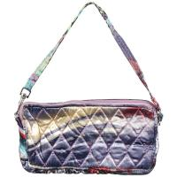 Quilted Bags - Wristlet - Abstract Paint Splatter - Slate