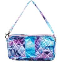 Quilted Bags - Wristlet - Abstract Paint Splatter - Blue