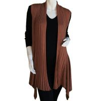 Magic Convertible Ribbed Sweater Vest - Camel