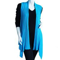 Magic Convertible Ribbed Sweater Vest - Turquoise