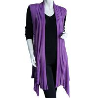 Magic Convertible Ribbed Sweater Vest - Dusty Purple