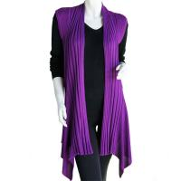 Magic Convertible Ribbed Sweater Vest - Purple