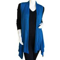 Magic Convertible Ribbed Sweater Vest - Azure