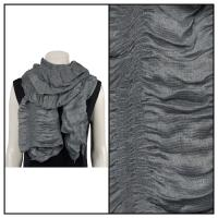 Scarves - Crinkle Gathered 1343 - Dark Grey