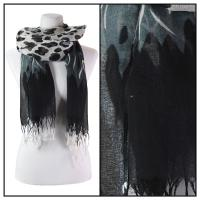 Scarves - Stylized Animal Print 1203 - Black