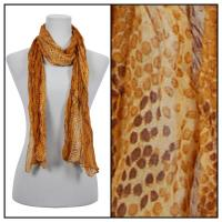 Scarves - Crinkled Snake Print 50960 - Gold