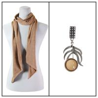 Scarves - Magic Slinky w/ Pendant - Champagne w/ Pendant #395