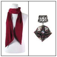 Scarves - Magic Slinky w/ Pendant - Wine w/ Pendant #024