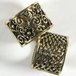 Scarf Rings - 02 Bronze Reversible (2 Pack)
