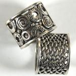 Scarf Rings - 03 Silver Reversible (2 Pack)