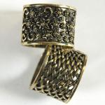 Scarf Rings - 06 Bronze Reversible (2 Pack)