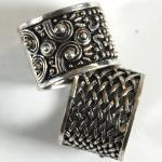 Scarf Rings - 08 Silver Reversible (2 Pack)