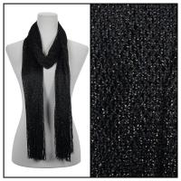 Scarves - Metallic Fishnet 3836 - Black