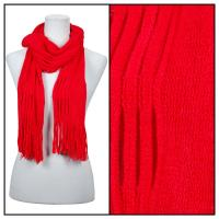 Scarves - Bohemian Knit Tubed 51679  - Red