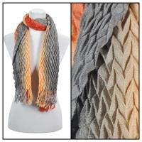 Scarves - Pleated Ombre 686 - Paprika-Grey
