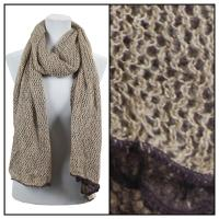 Scarves - Crochet Two-Ply 8086 - Brown-Beige