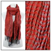 Scarves - Crinkle Checkered 648 - Red