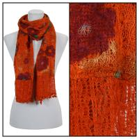 Scarves - Flower Pom Pom 2013 - Orange