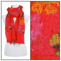 Scarves - Flower Pom Pom 2013 - Red