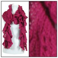 Scarves - Ruffle Knit 4067 - Burgundy