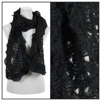 Scarves - Scalloped Edge Mohair Style  4069 - Black