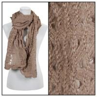 Scarves - Scalloped Edge Mohair Style  4069 - Brown
