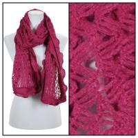 Scarves - Scalloped Edge Mohair Style  4069 - Burgundy