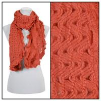 Scarves - Scalloped Edge Mohair Style  4069 - Orange