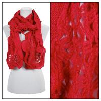 Scarves - Scalloped Edge Mohair Style  4069 - Red